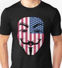 Guy Fawkes American Flag Unisex T-Shirt