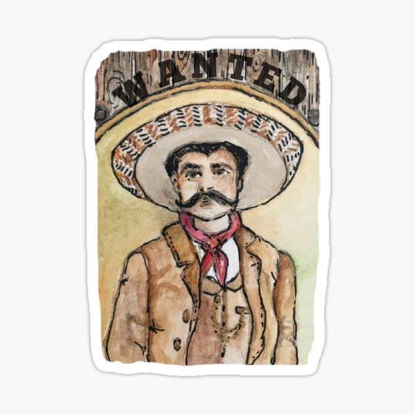 WANTED Mexican Outlaw Sticker