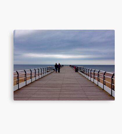 Walking on the Pier Canvas Print