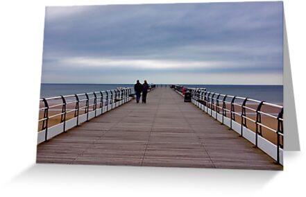 Walking on the Pier by Trevor Kersley