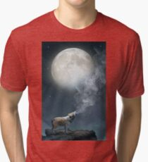 The Light of Starry Dreams (Wolf Moon) Tri-blend T-Shirt