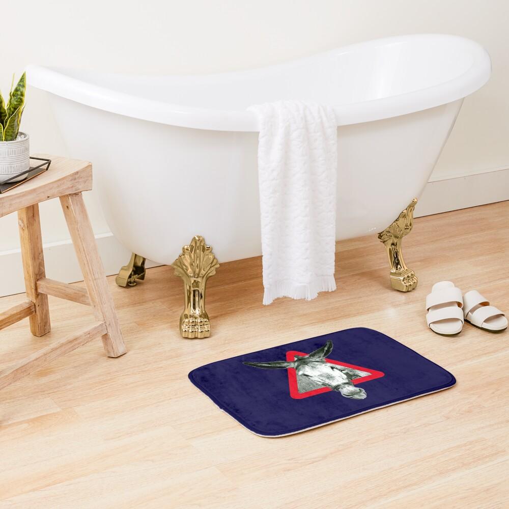 Peligro: Súper Terco - señal de advertencia Alfombra de baño