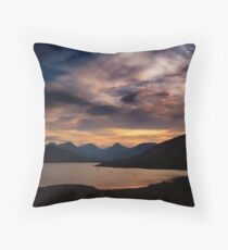 Arrochar Alps At Loch Arklet Throw Pillow