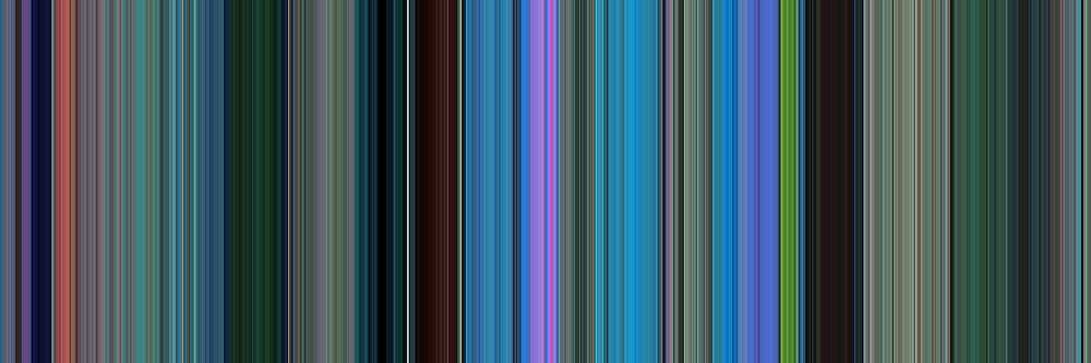 Moviebarcode: Finding Nemo (2003) [Simplified Colors] by moviebarcode