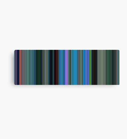 Moviebarcode: Finding Nemo (2003) [Simplified Colors] Canvas Print