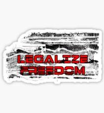 Legalize Freedom Sticker