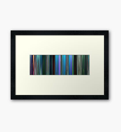 Moviebarcode: Finding Nemo (2003) Framed Print