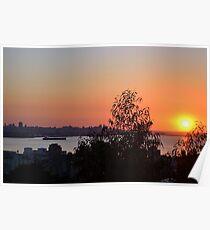 Beirut Skyline at Sunset Poster