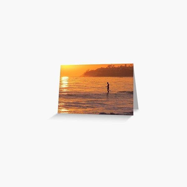 Paddleboard at Sunset Greeting Card
