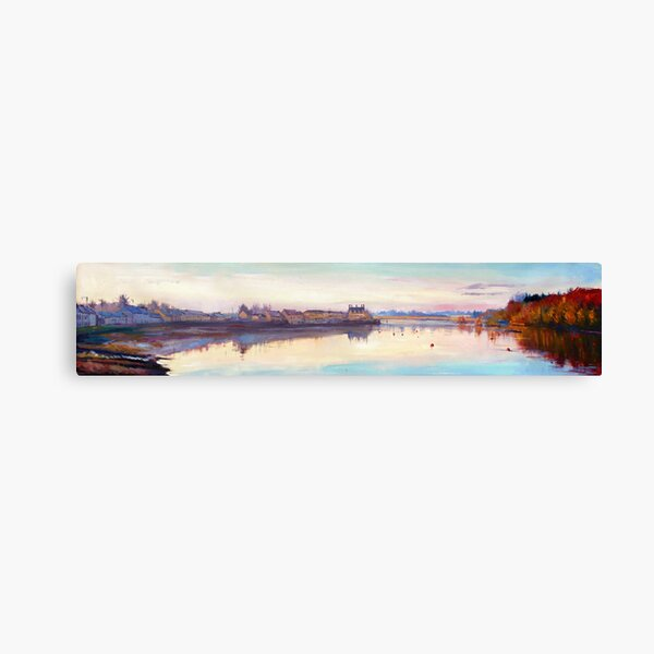 The Quay at Dusk, Ballina, County Mayo Canvas Print