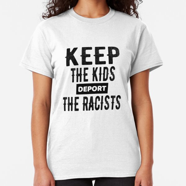 Ladies T-Shirt Dress Summer Will trade racists for refugees Political Womens