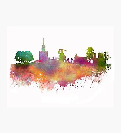 Warsaw skyline Photographic Print