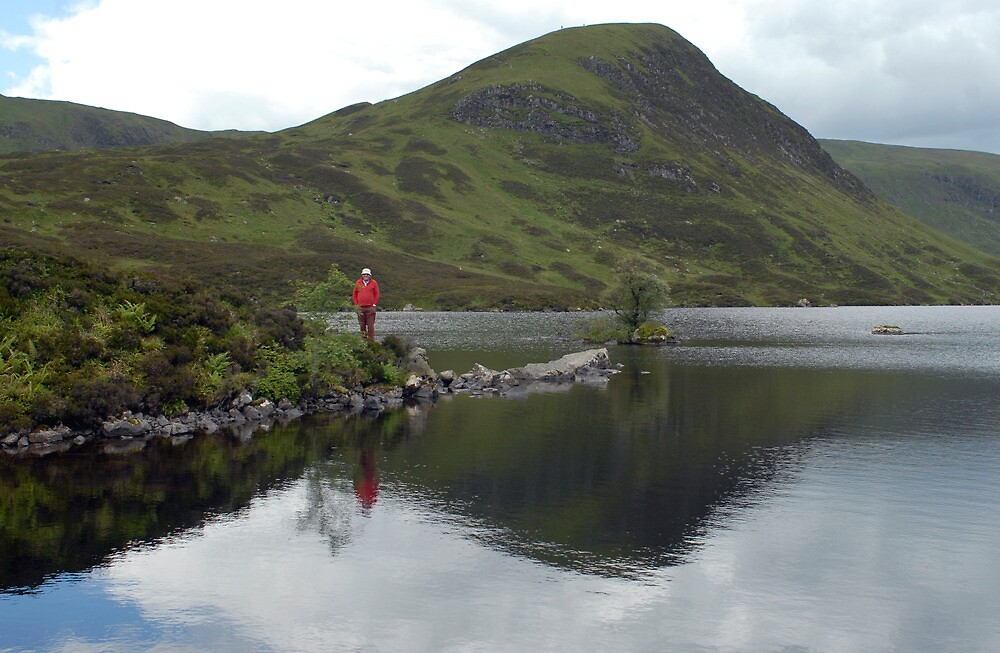 Mark admiring Loch Skeen above the Grey Mare's Tail, with White Coomb in the background by rosie320d