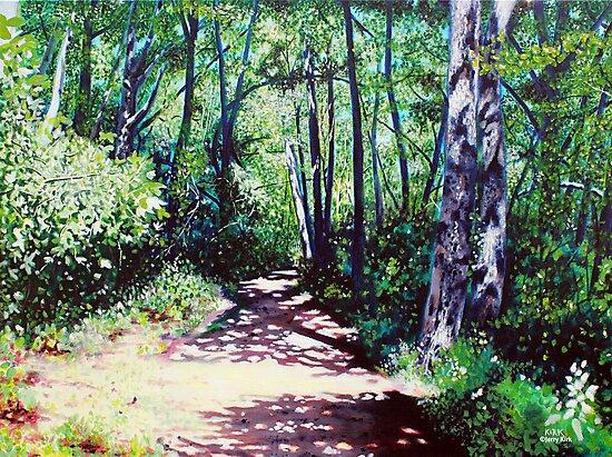 'Sun Shower on the Glen Burney Trail' by Jerry Kirk
