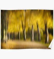 Autumn Avenue impression Poster