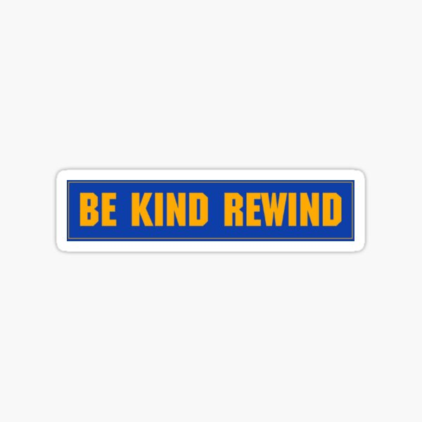Blockbuster rewind Sticker