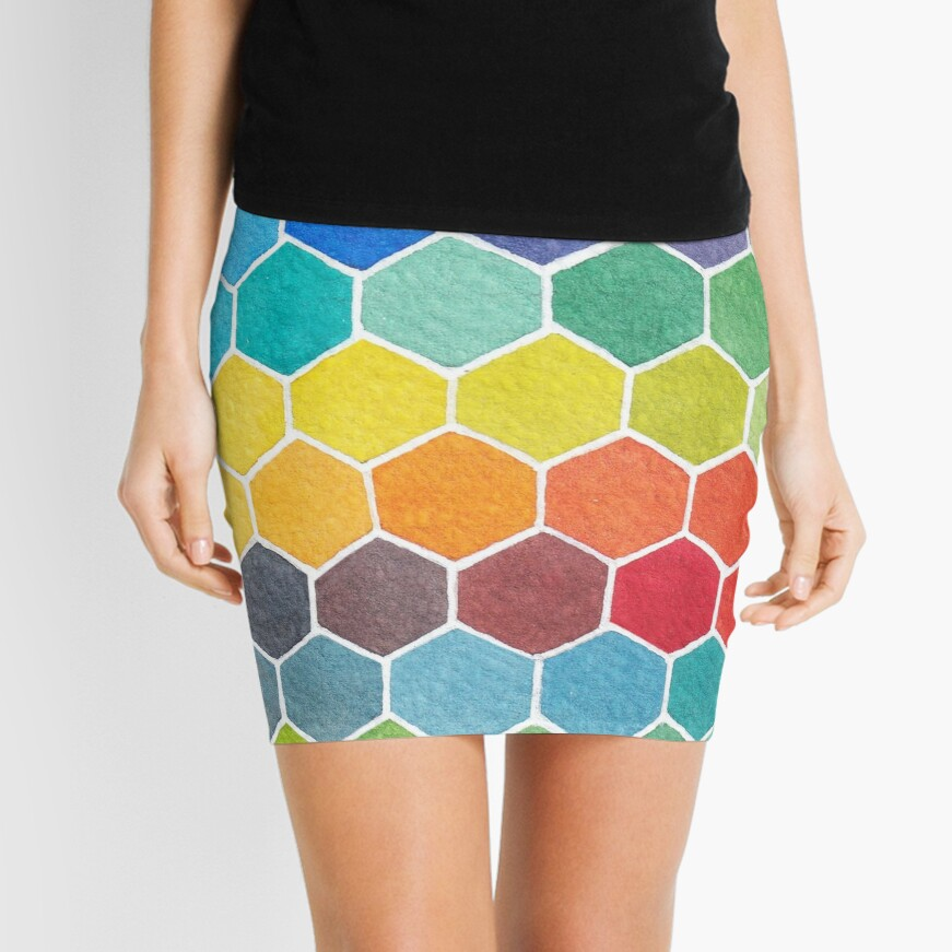 Abstract fun Mini Skirt
