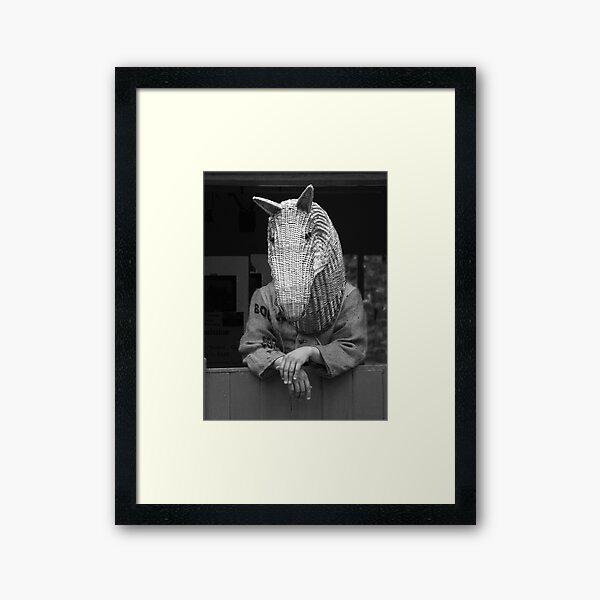 Horse at the Door Framed Art Print
