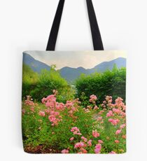 flowers at the shore Tote Bag