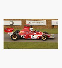 Lauda Ferrari Photographic Print