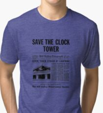 Back to the future - Save the clock tower ! Tri-blend T-Shirt