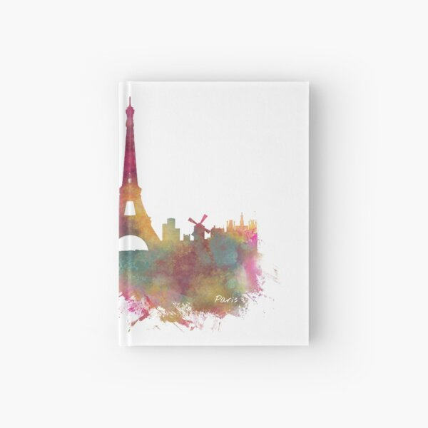 Paris skyline Hardcover Journal