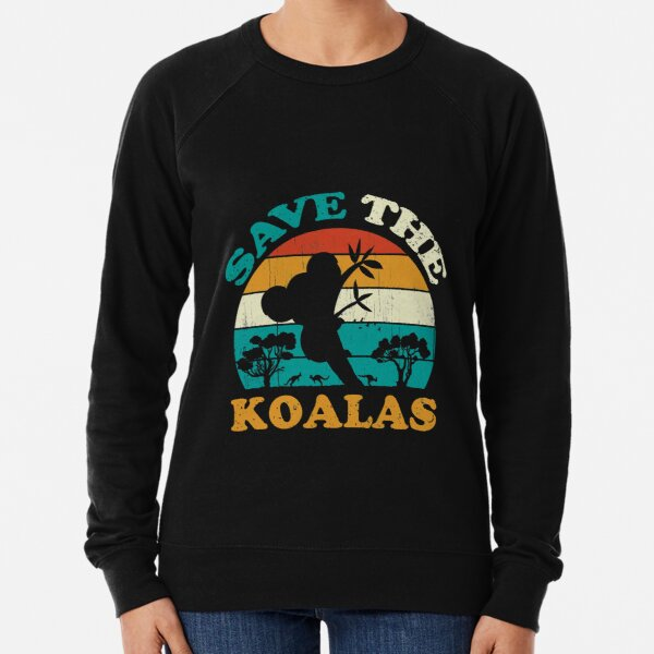Salva a los Koalas Vintage Retro Sudadera ligera
