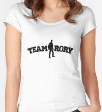 Team Rory Doctor Who  Women's Fitted Scoop T-Shirt