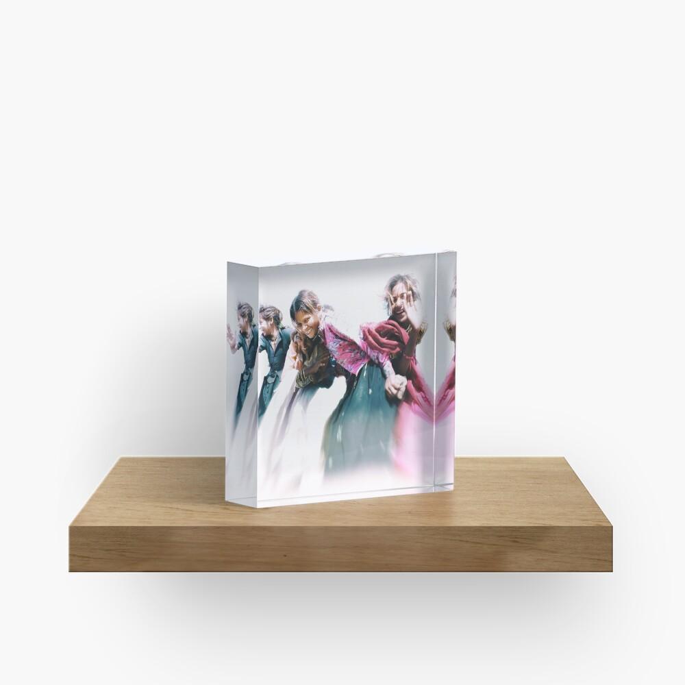 gypsy girls of rajasthan Acrylic Block