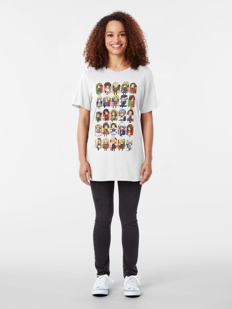 Alternate view of Hetalia Group Slim Fit T-Shirt