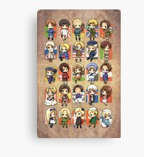 Hetalia Group Canvas Print