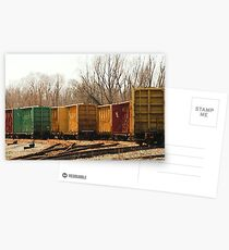 Box Cars Postcards