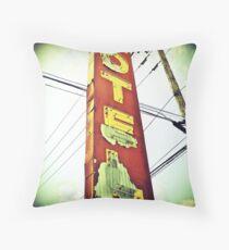 Highway 99 Motel Throw Pillow