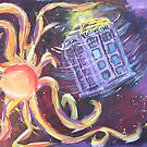 The Tardis Escapes From A Mutant Orange by Brian Rex