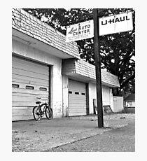 Lou's auto center Photographic Print