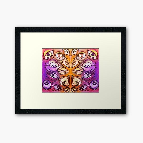 Many, many eyes. Framed Art Print