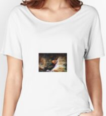 Orange fish in sea anemones Women's Relaxed Fit T-Shirt