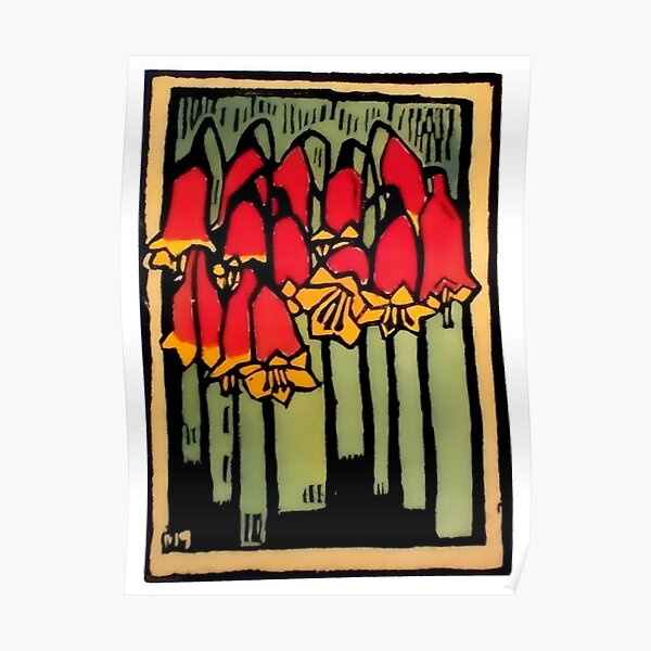 """Christmas Bells"" by Margaret Preston Poster"