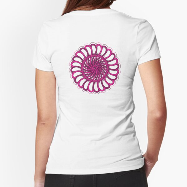 pink spin flower Fitted T-Shirt
