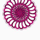 pink spin flower by sabrina card