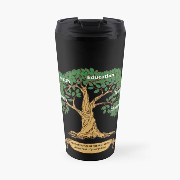 PR: At the root of good policy - for dark backgrounds Travel Mug