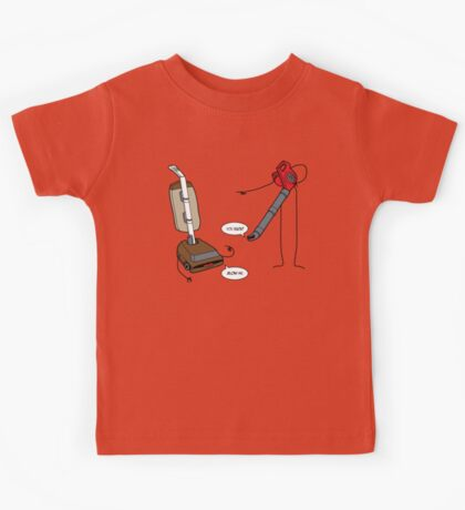 Leaf blowers are mean (vacuum cleaners talk back) Kids Clothes