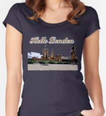 Beautiful London Bigben& Thames river Women's Fitted Scoop T-Shirt