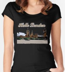 Beautiful London Bigben& Thames river art Women's Fitted Scoop T-Shirt