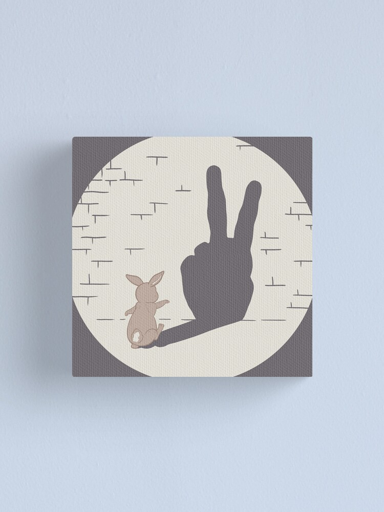 Alternate view of Peace Bunny Canvas Print