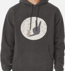 Peace Bunny Pullover Hoodie
