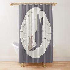 Peace Bunny Shower Curtain