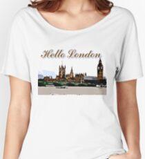 Beautiful London Bigben& Thames river art Women's Relaxed Fit T-Shirt