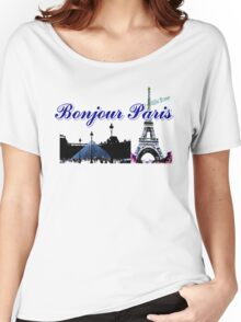 Beautiful architecture Luvoure museum ,Effel tower Paris france graphic art Women's Relaxed Fit T-Shirt