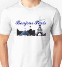 Beautiful architecture Luvoure museum ,Effel tower Paris france graphic art T-Shirt